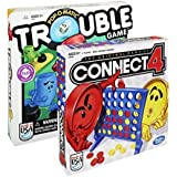 Maven Gifts: Hasbro Classic Board Game 2 Pack Connect 4 Game With Trouble Game Fun For The Whole Family Ages 5+