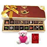 Moment Of Love Surprises Of Dark And Milk Chocolates With Teddy And Love Card - Chocholik Belgium Chocolates