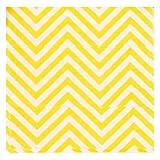 "PrettyurParty Chevron Paper Napkins (13"" x 13"") - Yellow"