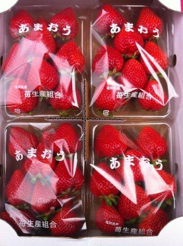 博多あまおう1箱 4パック入り 福岡県産