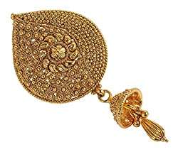 Beautiful Gold Plated Back Side Hair Juda Pin For Women Daily Wear Jewelry
