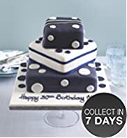 Blue Present Stack Cake