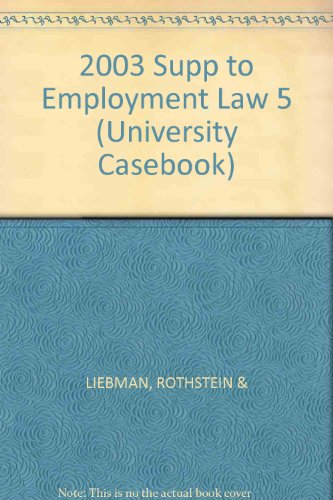 Employment Law: Statutory Supplement (University Casebook)