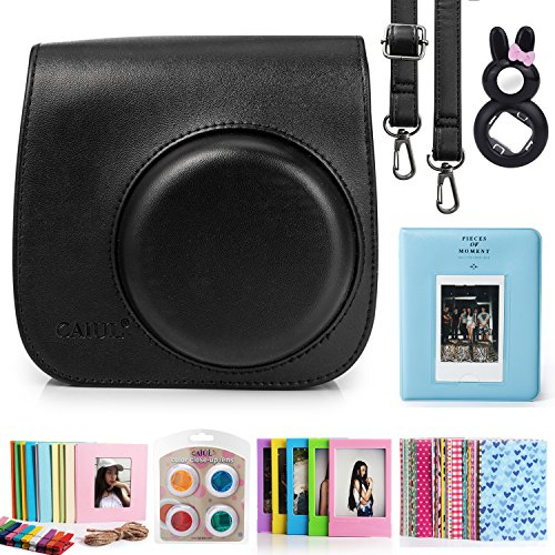 caiul-7-in-1-fujifilm-instax-mini-8-camera-accessories-bundles-black-mini-8-case-mini-album-close-up
