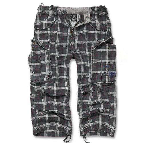 3/4 uomo Brandit Industry Cargo pantaloncini B-2003 Darkgrey-Purple XX-Large