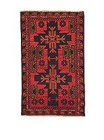 L'Eden del Tappeto Alfombra Beluchistan Rojo / Negro 142  x  88 cm