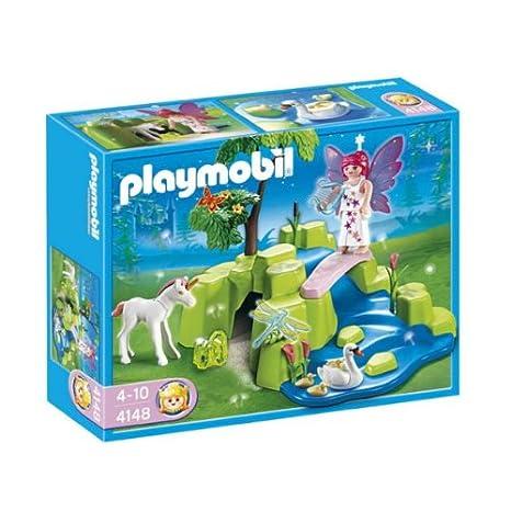 Playmobil - 4148 - Figurine - Compact Set - Jardin de Fées avec Licorne