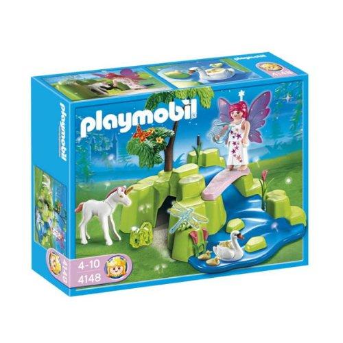 Playmobil-4148-Figurine-Compact-Set-Jardin-de-Fes-avec-Licorne