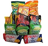 Assorted Filipino food/snacks (11 count) + (1 Free surprise Item) Nagaraya cracker nuts, Lucky Me Pancit Canton, Cake( The flavor may vary Pandan, ube,or orange) and Toasted Pinipig Polvoron