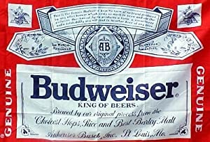 Budweiser FREE SHIPPING Flag 3x5 Foot Bud Light Banner Poster Brand New Rare