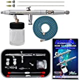 Master Airbrush® Brand S622-SET Master S62 All-Purpose Precision Dual-Action Siphon Feed Airbrush Pro Set with 3 Nozzle Sets, With a (FREE) 6' Airbrush Hose & Now a (FREE) How to Airbrush Training Book to Get You Started, Published Exclusively By TCP Global.