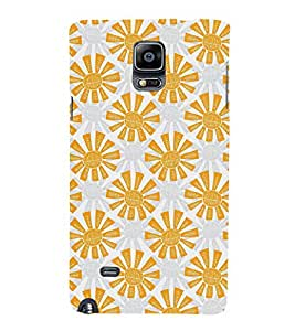 VINTAGE ANIMATED FLORAL PATTERN 3D Hard Polycarbonate Designer Back Case Cover for Samsung Galaxy Note 4 N910 :: Samsung Galaxy Note 4 Duos N9100