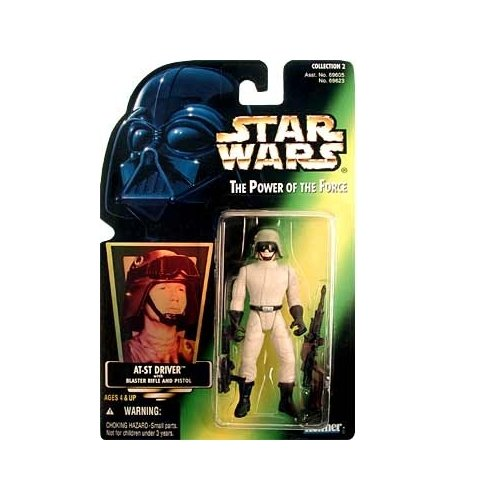 Star Wars: Power of the Force Green Card AT-ST Driver Action Figure - 1