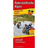 Motorradkarte Österreichische Alpen: Mit Ausflugszielen, Einkehr- & Freizeittipps und Tourenvorschlägen, wetterfest...