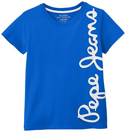 Pepe Jeans Jungen T-Shirt, WALDO SHORT, GR. 176 (Herstellergröße: 16 ans), Blau (French Blue)