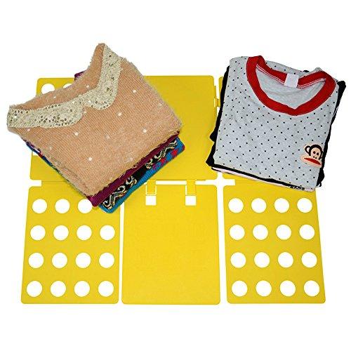 Vivan'S Shop Magic Fast Speed T-Shirt Folder Board Laundry Clothes Folder Flip Fold Board Organizer (Yellow) front-258039