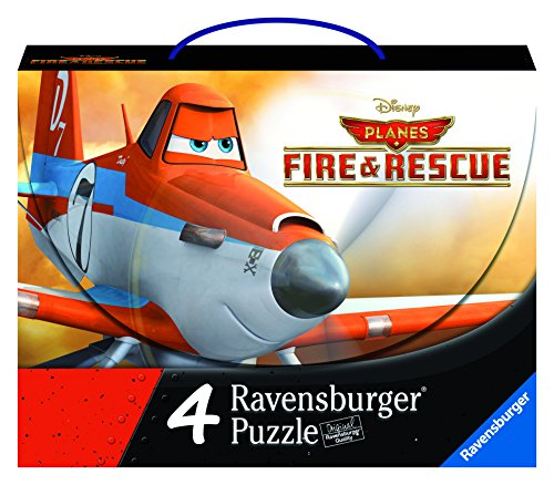 Ravensburger Disney Planes Fire & Rescue: Planes 2-4 Puzzles in a Suitcase Box - 1
