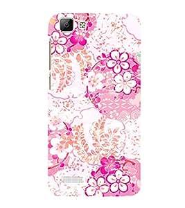Floral Painting 3D Hard Polycarbonate Designer Back Case Cover for VIVO V1