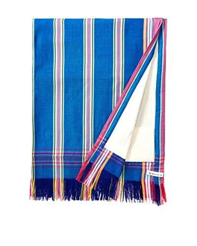 Nomadic Thread Sarong Towel, French Blue/Pink Stripe