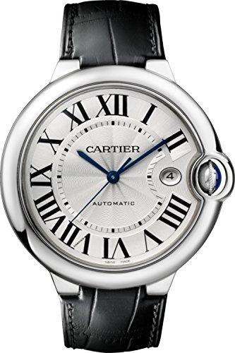 Cartier Men's Ballon Bleu De Cartier Black Leather Band Steel Case Automatic Analog Watch W69016Z4