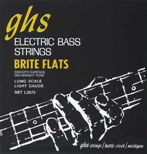 GHS L3075 Light Brite Flats Electric Bass 4 String