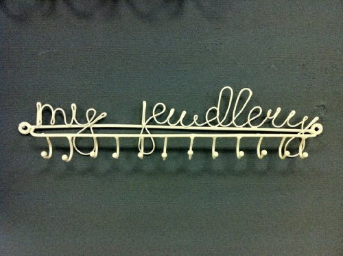 Sass and Belle Porte-bijoux mural en métal 12 crochets My Jewellery Crème