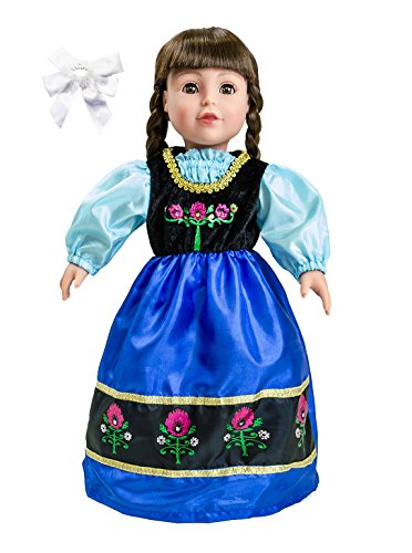 Little Adventure 41370 Scandinavian Princess Doll Dress with Hair Bow