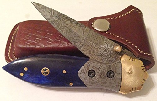 Damascus Steel Pocket Knife