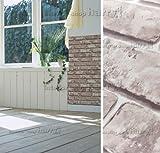 はがせるDIY壁紙シール + ハリーステッカー リフォームシール 粘着付き壁紙 ナチュラルベージュレンガ 煉瓦柄 約50cm巾×15m巻