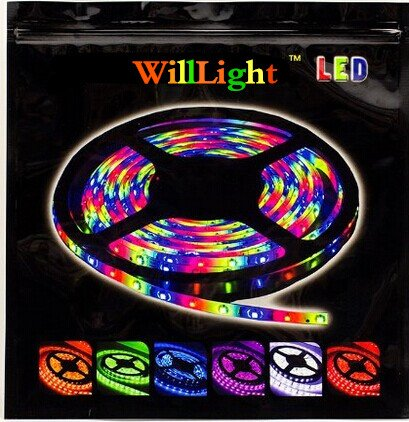 2 Days Delivery Willlight 16.4Ft 5050 300Leds Waterproof Ip67 Rgbw Led Strip Lights Kit , Rgb Led Flexible Lighting + 40Key Ir Remote Controller + 12V 5A Power Supply (5050Rgb-5M-300Led)