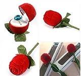 【プロポーズの最強アイテム】 指輪 リング を 薔薇 ケースに入れて贈り物に! 2個セット