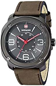 """Amazon.com: Wenger Men's 01.1051.104 """"Escort"""" Stainless Steel Watch"""