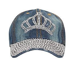 FabSeasons Denim Jeans Studded Fancy Cap for Women