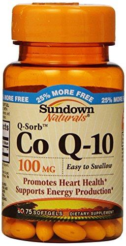 Sundown Naturals Co Q10 Softgels, 100 mg, 75 Count (Co Q10 Sundown compare prices)
