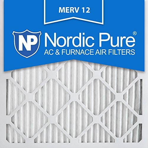Nordic Pure 14x14x1M12-6 MERV 12 Pleated Air Condition Furnace Filter, Box of 6 (14x14 Air Filter compare prices)