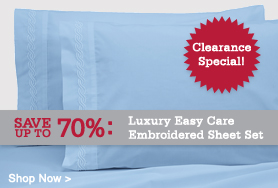 Luxurious 300TC Embroidered Sheet Set