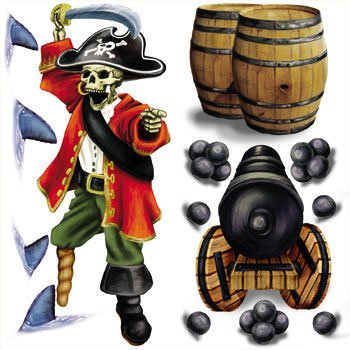 Pirate Captain Scene Setter Plastic Scene Setter Add Ons (14 per package)