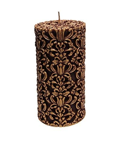 Volcanica Paramount Pillar Candle, Red/Gold, Medium As You See
