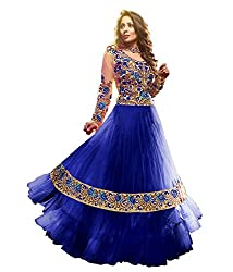 Shree Khodal Women's Blue Net Dress Material [SK_JCN1024_E]