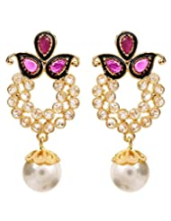 Akshim Multicolour Alloy Earrings For Women - B00NPYAJLI