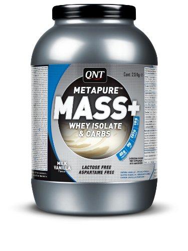 QNT Metapure Mass+ 2500 g Vanilla Muscle Size and Power Shake Powder