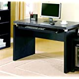 Coaster Peel Black Computer Desk with Keyboard Tray