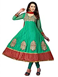Sanchey Women's Un-Stitched Dress Material (Green_Free Size)