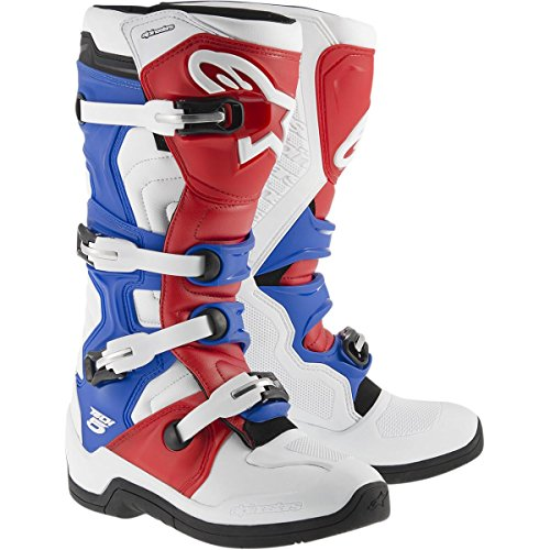 Alpinestars Tech 5 Men's Off-Road Motorcycle Boots - White/Red/Blue / 10