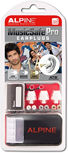 Alpine MusicSafe Pro Hearing Protection System for Musicians, White (Alpine Hearing Protection Pro compare prices)