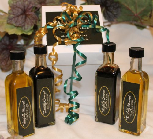 4 Pack Sampler (Extra Virgin Olive Oils) by Tastefully Gourmet