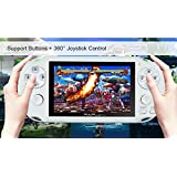 Anbernic Handheld Game Console, 4GB 4.3 Inch Screen 650 Classic Game Console, Support Video / Music / Camera, Birthday Presents for Children - White (Color: White)