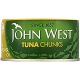 John West Tuna Chunks in Sunflower Oil 185 g (Pack of 12)