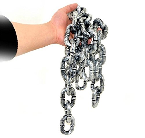 Zicome 6-feet Plastic Grey & Black Chain Links Costume Accessory Halloween Decoration