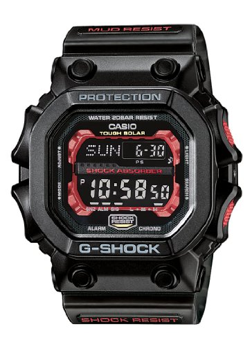 G-Shock Men's Quartz Watch with Black Dial Digital Display and Black Resin Strap GX-56-1AER